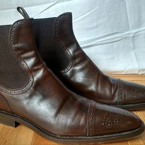 Men's Dolce & Gabbana Wingtip Ankle Boots Brown